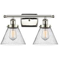 Innovations Lighting 916-2W-PN-G44-LED Large Cone LED 16 inch Polished Nickel Bath Vanity Light Wall Light