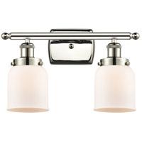 Innovations Lighting 916-2W-PN-G51-LED Small Bell LED 16 inch Polished Nickel Bath Vanity Light Wall Light