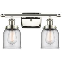 Innovations Lighting 916-2W-PN-G52-LED Small Bell LED 16 inch Polished Nickel Bath Vanity Light Wall Light