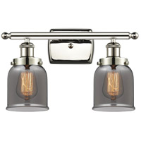 Innovations Lighting 916-2W-PN-G53-LED Small Bell LED 16 inch Polished Nickel Bath Vanity Light Wall Light