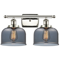 Innovations Lighting 916-2W-PN-G73 Large Bell 2 Light 16 inch Polished Nickel Bath Vanity Light Wall Light