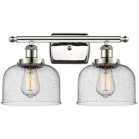 Innovations Lighting 916-2W-PN-G74 Large Bell 2 Light 16 inch Polished Nickel Bath Vanity Light Wall Light