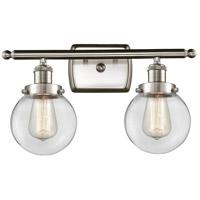 Innovations Lighting 916-2W-SN-G202-6-LED Beacon LED 16 inch Satin Nickel Bath Vanity Light Wall Light Ballston