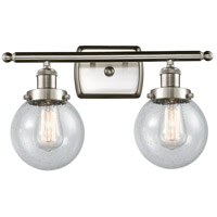 Innovations Lighting 916-2W-SN-G204-6-LED Beacon LED 16 inch Satin Nickel Bath Vanity Light Wall Light Ballston
