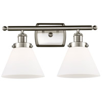 Innovations Lighting 916-2W-SN-G41 Large Cone 2 Light 16 inch Satin Nickel Bath Vanity Light Wall Light Ballston