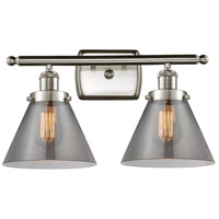 Innovations Lighting 916-2W-SN-G43 Large Cone 2 Light 16 inch Satin Nickel Bath Vanity Light Wall Light Ballston