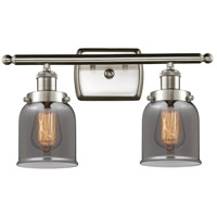 Innovations Lighting 916-2W-SN-G53-LED Small Bell LED 16 inch Satin Nickel Bath Vanity Light Wall Light Ballston