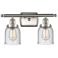 Innovations Lighting 916-2W-SN-G54-LED Small Bell LED 16 inch Satin Nickel Bath Vanity Light Wall Light Ballston
