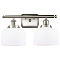 Innovations Lighting 916-2W-SN-G71 Large Bell 2 Light 16 inch Satin Nickel Bath Vanity Light Wall Light Ballston
