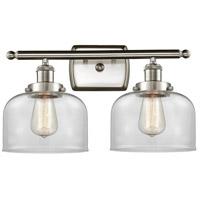 Innovations Lighting 916-2W-SN-G72 Large Bell 2 Light 16 inch Satin Nickel Bath Vanity Light Wall Light Ballston