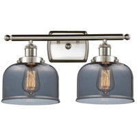 Innovations Lighting 916-2W-SN-G73 Large Bell 2 Light 16 inch Satin Nickel Bath Vanity Light Wall Light Ballston