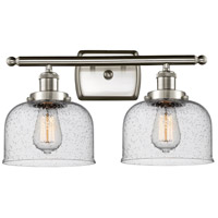 Innovations Lighting 916-2W-SN-G74 Large Bell 2 Light 16 inch Satin Nickel Bath Vanity Light Wall Light Ballston