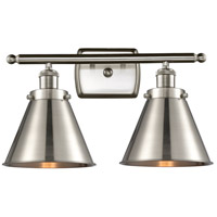 Innovations Lighting 916-2W-SN-M13-SN Appalachian 2 Light 16 inch Satin Nickel Bath Vanity Light Wall Light Ballston