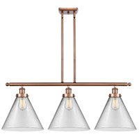 Innovations Lighting 916-3I-AC-G42-L X-Large Cone 3 Light 36 inch Antique Copper Island Light Ceiling Light