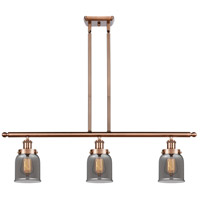 Innovations Lighting 916-3I-AC-G53-LED Small Bell LED 36 inch Antique Copper Island Light Ceiling Light