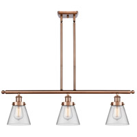 Innovations Lighting 916-3I-AC-G62 Small Cone 3 Light 36 inch Antique Copper Island Light Ceiling Light