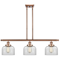 Innovations Lighting 916-3I-AC-G72 Large Bell 3 Light 36 inch Antique Copper Island Light Ceiling Light