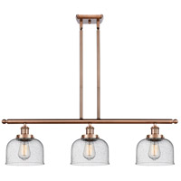 Innovations Lighting 916-3I-AC-G74 Large Bell 3 Light 36 inch Antique Copper Island Light Ceiling Light