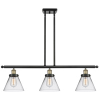 Innovations Lighting 916-3I-BAB-G42-LED Large Cone LED 36 inch Black Antique Brass Island Light Ceiling Light
