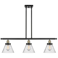 Innovations Lighting 916-3I-BAB-G44 Large Cone 3 Light 36 inch Black Antique Brass Island Light Ceiling Light