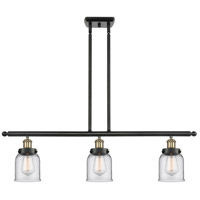 Innovations Lighting 916-3I-BAB-G52-LED Small Bell LED 36 inch Black Antique Brass Island Light Ceiling Light