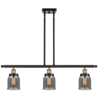 Innovations Lighting 916-3I-BAB-G53-LED Small Bell LED 36 inch Black Antique Brass Island Light Ceiling Light