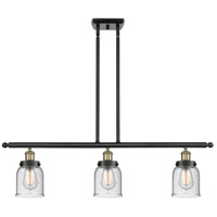 Innovations Lighting 916-3I-BAB-G54-LED Small Bell LED 36 inch Black Antique Brass Island Light Ceiling Light