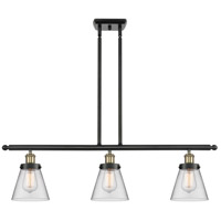 Innovations Lighting 916-3I-BAB-G62 Small Cone 3 Light 36 inch Black Antique Brass Island Light Ceiling Light