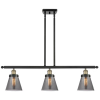 Innovations Lighting 916-3I-BAB-G63-LED Small Cone LED 36 inch Black Antique Brass Island Light Ceiling Light