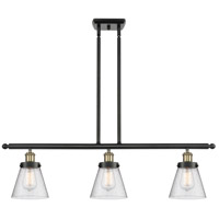 Innovations Lighting 916-3I-BAB-G64-LED Small Cone LED 36 inch Black Antique Brass Island Light Ceiling Light