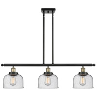 Innovations Lighting 916-3I-BAB-G74 Large Bell 3 Light 36 inch Black Antique Brass Island Light Ceiling Light