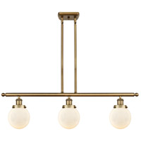 Innovations Lighting 916-3I-BB-G201-6-LED Beacon LED 36 inch Brushed Brass Island Light Ceiling Light