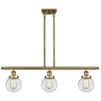 Innovations Lighting 916-3I-BB-G202-6 Beacon 3 Light 36 inch Brushed Brass Island Light Ceiling Light