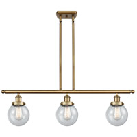 Innovations Lighting 916-3I-BB-G204-6 Beacon 3 Light 36 inch Brushed Brass Island Light Ceiling Light