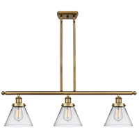 Innovations Lighting 916-3I-BB-G42-LED Large Cone LED 36 inch Brushed Brass Island Light Ceiling Light