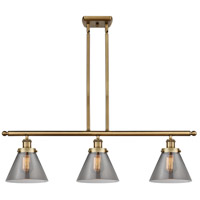 Innovations Lighting 916-3I-BB-G43 Large Cone 3 Light 36 inch Brushed Brass Island Light Ceiling Light