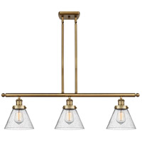 Innovations Lighting 916-3I-BB-G44 Large Cone 3 Light 36 inch Brushed Brass Island Light Ceiling Light