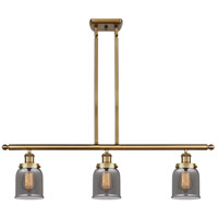 Innovations Lighting 916-3I-BB-G53-LED Small Bell LED 36 inch Brushed Brass Island Light Ceiling Light