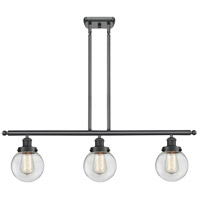 Innovations Lighting 916-3I-BK-G202-6-LED Beacon LED 36 inch Matte Black Island Light Ceiling Light Ballston