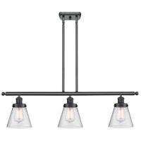 Innovations Lighting 916-3I-BK-G64-LED Small Cone LED 36 inch Matte Black Island Light Ceiling Light Ballston