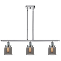 Innovations Lighting 916-3I-PC-G53-LED Small Bell LED 36 inch Polished Chrome Island Light Ceiling Light Ballston