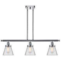 Innovations Lighting 916-3I-PC-G62-LED Small Cone LED 36 inch Polished Chrome Island Light Ceiling Light Ballston