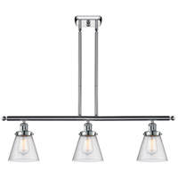 Innovations Lighting 916-3I-PC-G64-LED Small Cone LED 36 inch Polished Chrome Island Light Ceiling Light Ballston