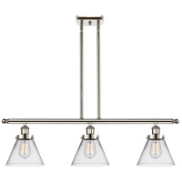 Innovations Lighting 916-3I-PN-G42-LED Large Cone LED 36 inch Polished Nickel Island Light Ceiling Light