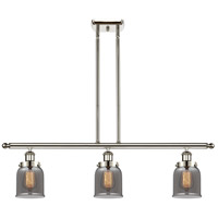 Innovations Lighting 916-3I-PN-G53-LED Small Bell LED 36 inch Polished Nickel Island Light Ceiling Light