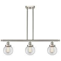 Innovations Lighting 916-3I-SN-G202-6-LED Beacon LED 36 inch Satin Nickel Island Light Ceiling Light Ballston