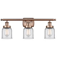 Innovations Lighting 916-3W-AC-G52-LED Small Bell LED 26 inch Antique Copper Bath Vanity Light Wall Light