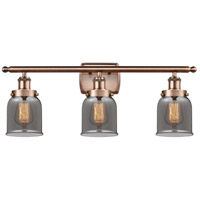 Innovations Lighting 916-3W-AC-G53-LED Small Bell LED 26 inch Antique Copper Bath Vanity Light Wall Light