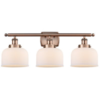 Innovations Lighting 916-3W-AC-G71-LED Large Bell LED 26 inch Antique Copper Bath Vanity Light Wall Light