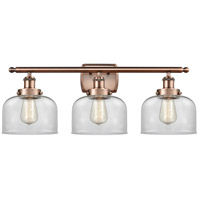 Innovations Lighting 916-3W-AC-G72-LED Large Bell LED 26 inch Antique Copper Bath Vanity Light Wall Light